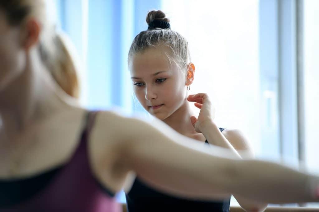 Thoughtful baller dancer on rehearsal