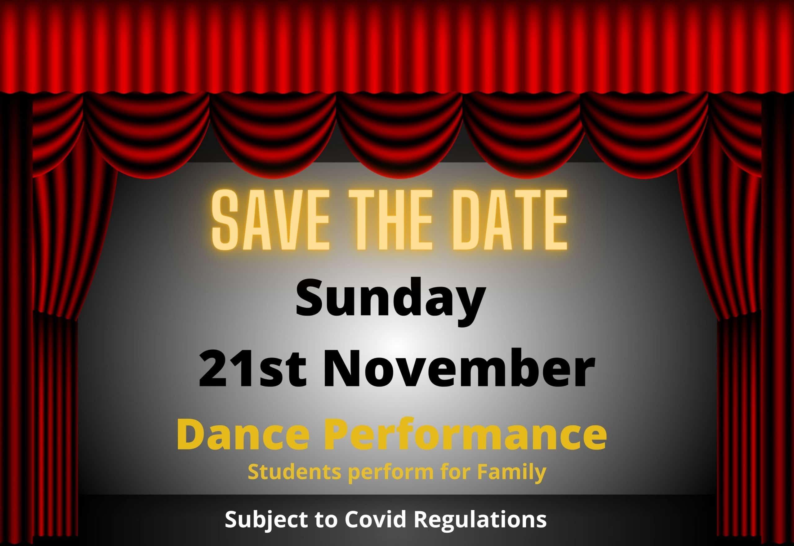 Childrens Dance performance Date Sandyford